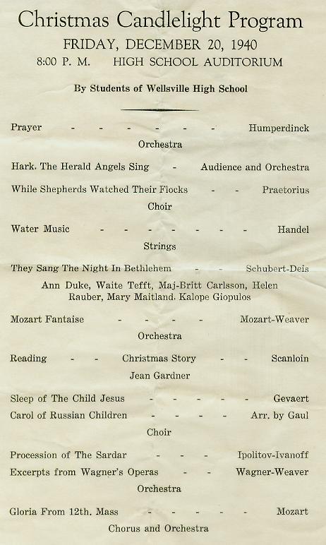 Christmas Candlelight Program