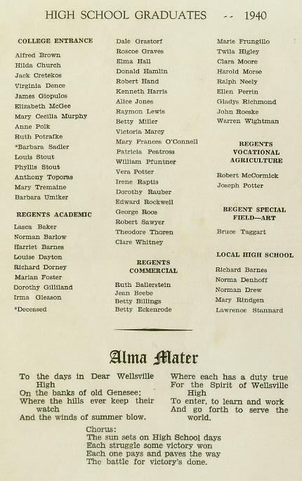 1940 Commencement Program pg 4