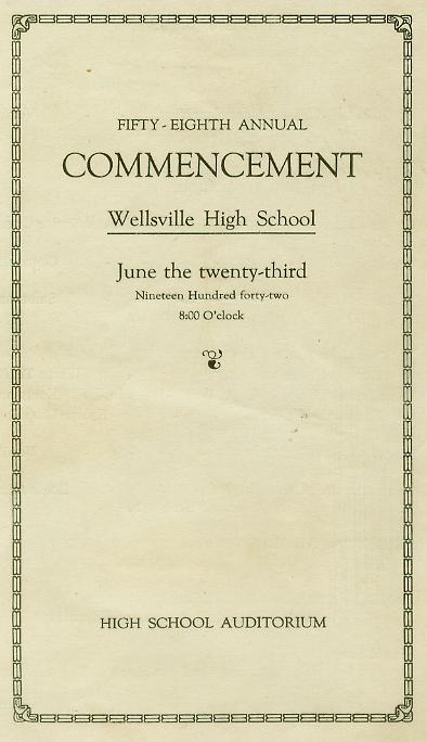 1942 Commencement Program  pg 1