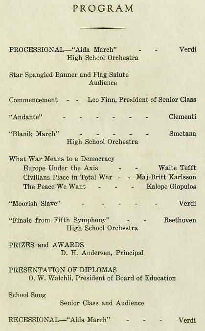 1942 Commencement Program pg 2
