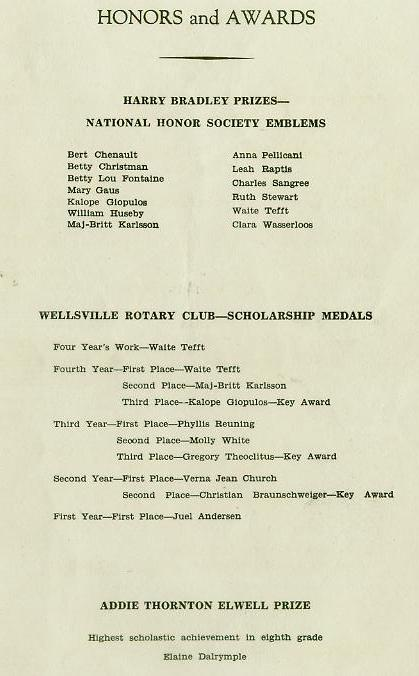 1942 Commencement Program pg 3