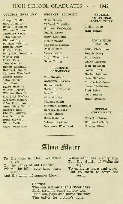 1942 Commencement Program pg 4