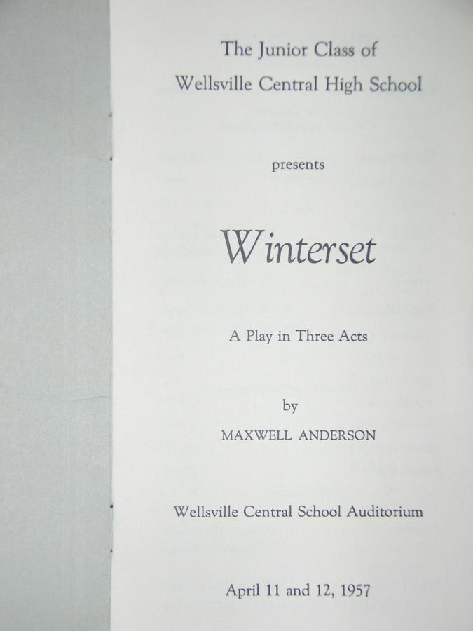 Class of 1958 Junior Play