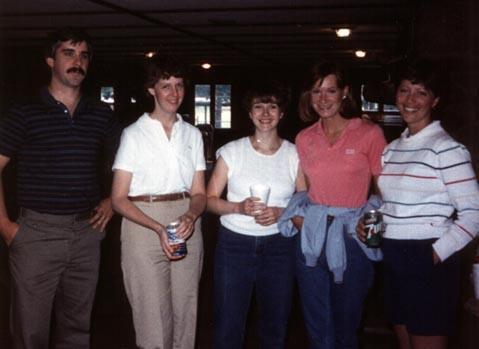 Tim & Linda (Regan) Strummer, Joan Calladine, Jacinta Mourhess, Linda DelVecchio
