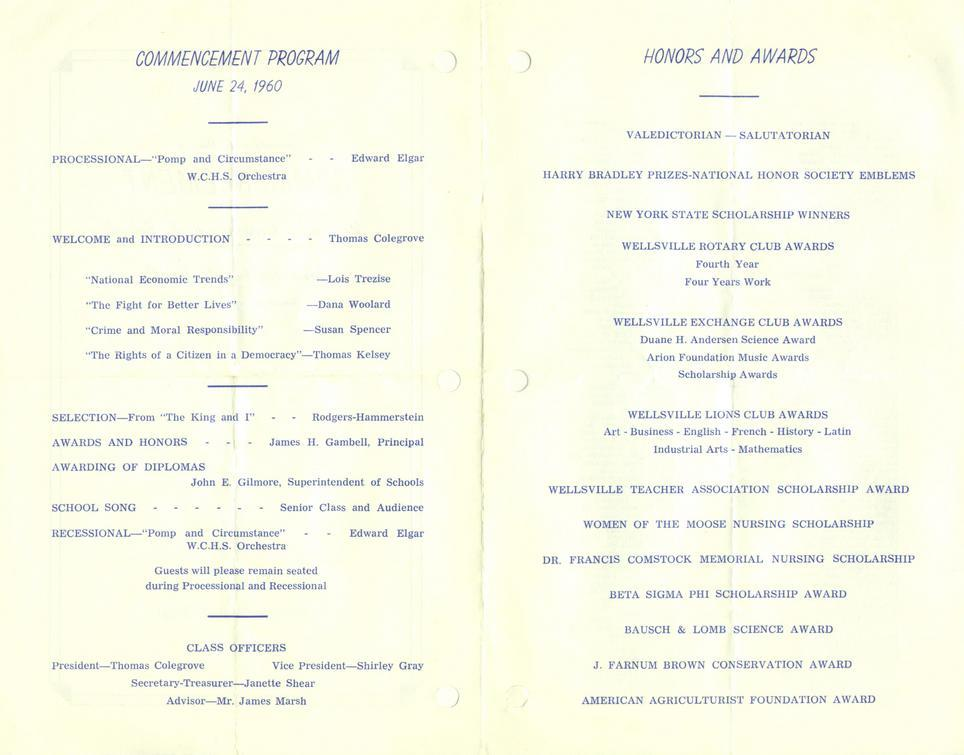 commencement program 2