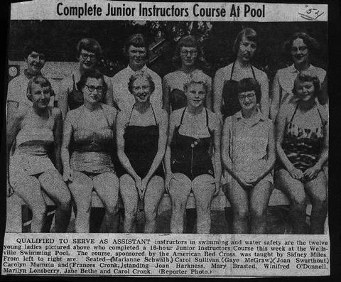junior inst course at pool