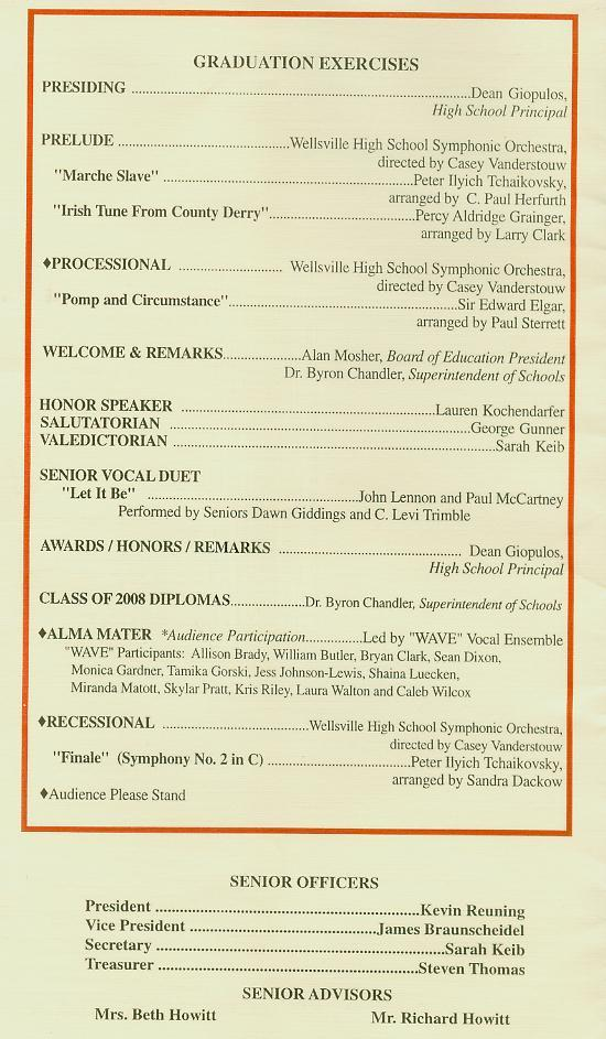 commencement program pg 2