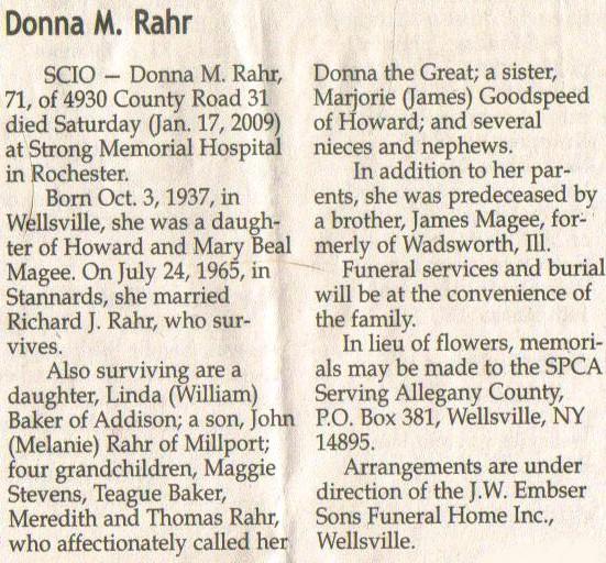 Donna M Rahr 1955