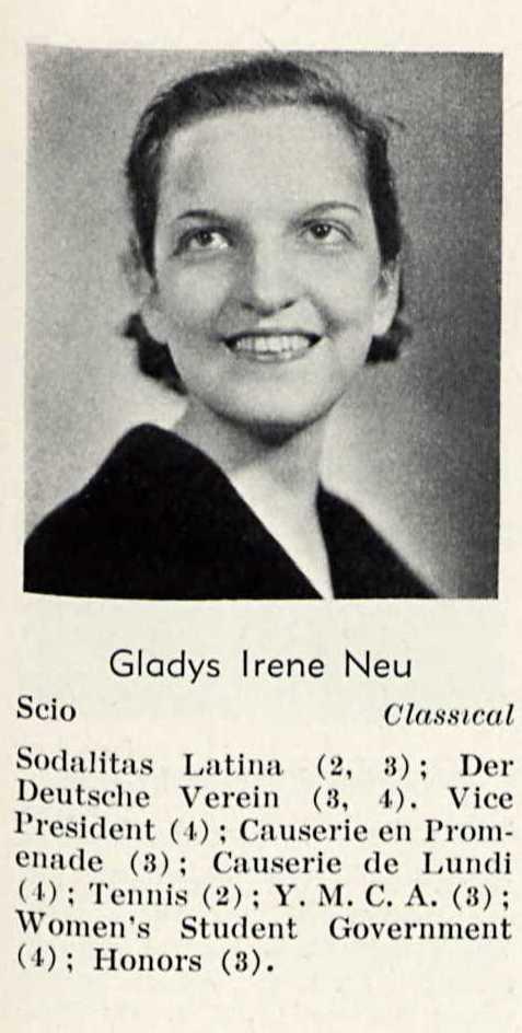 GLADYS NEU 1932