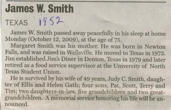 James W. Smith 1952