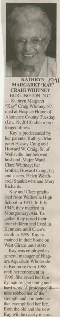 Kathryn Craig Whitney 1941