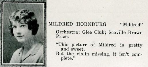 hornburg, mildred