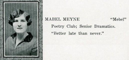 meyne, mabel
