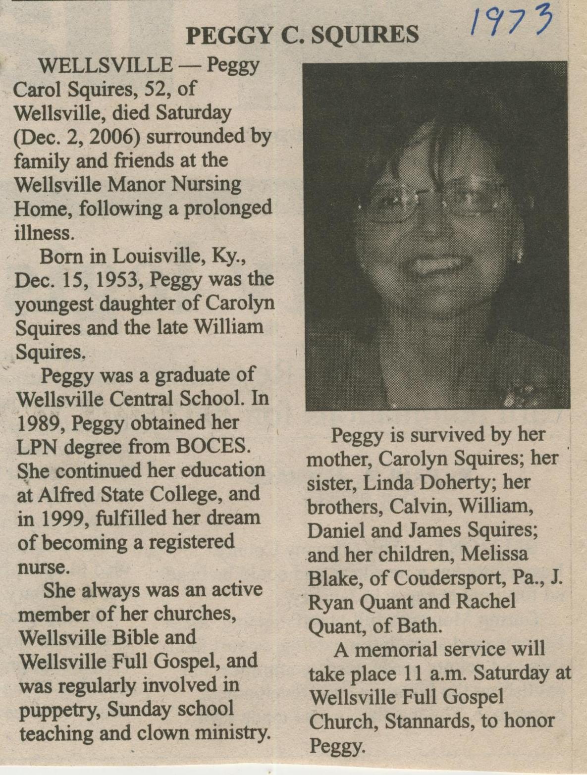 obit Peggy Squires