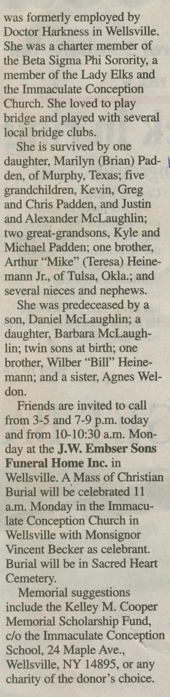 obit Ruth Heinemann McLaughlin 2