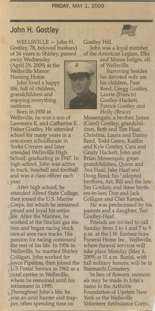 obit - john gostley '47