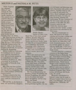 obit milton pitts and nathala houghtling pitts