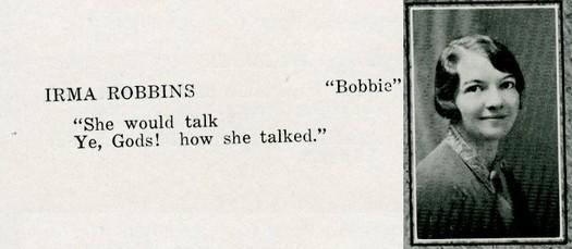 robbins, irma