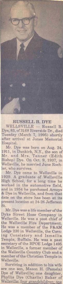 russell dye 1931