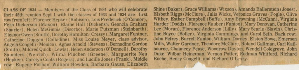 class 1934 names