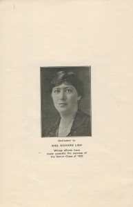 June 1922 dedication