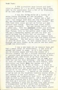 Alda Mae Graves Jacobs 1918 letter