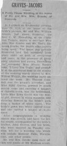 Alda Mae Graves Jacobs 1918 wedding